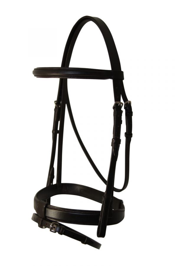Whitehorse~ The Newcomer Snaffle Bridle with Laced Reins