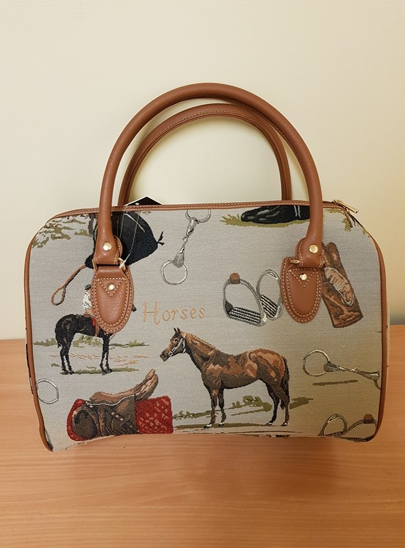 horse print double handled bag