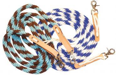 WESTERN NYLON REINS WITH SNAPS