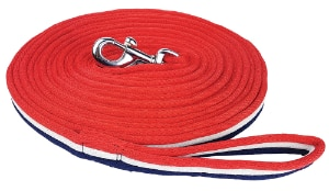 Brite Lunge Lead - Red/White/Blue