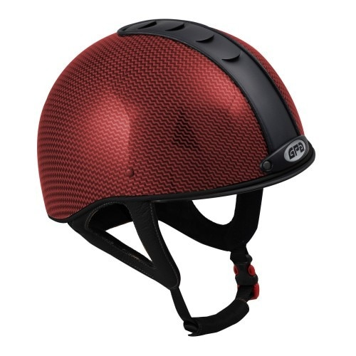 GPA Jock Up Helmet No. 1 Carbon Fibre - Red