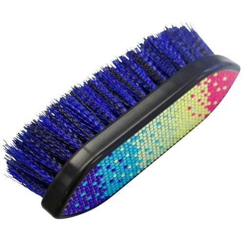 Showmaster Plastic Dandy Brush w/Rainbow Crystal Decoration