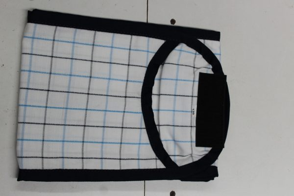 Heads To Tails Tail Bag~Navy Light Blue Check
