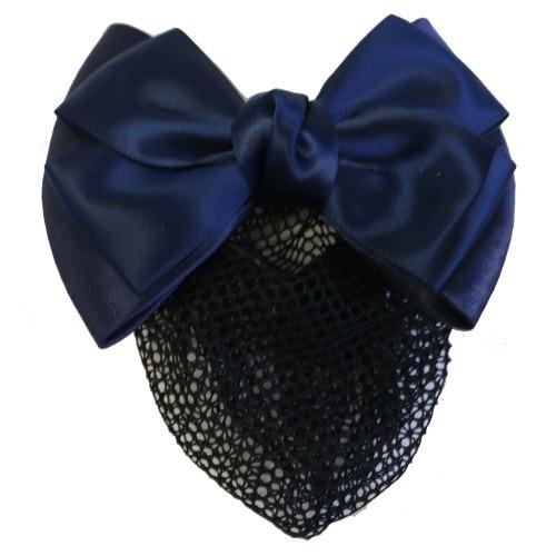 Huntington Show Bow w/Hair Net Navy