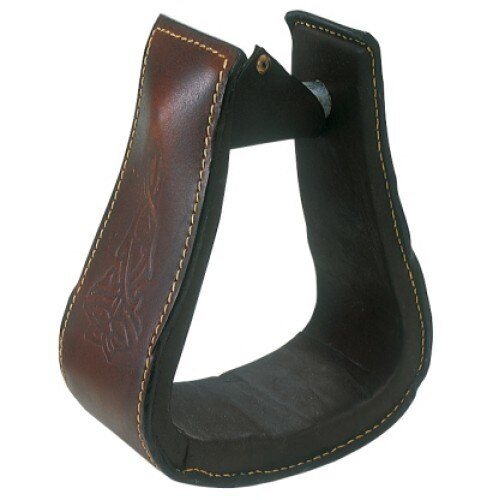 Ord River Leather Covered Oxbow Stirrups