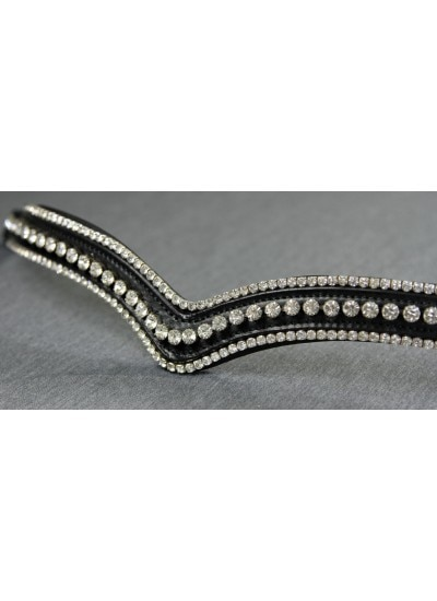 Flexible Fit Swarovski Tripple Row V Bridle