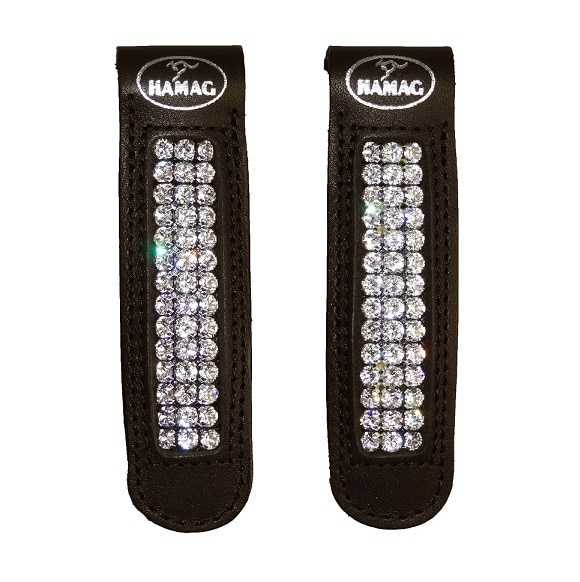 Swarovski Crystal Clips for Boots and Gaiters / Half Chaps - 3 Crystal Strands