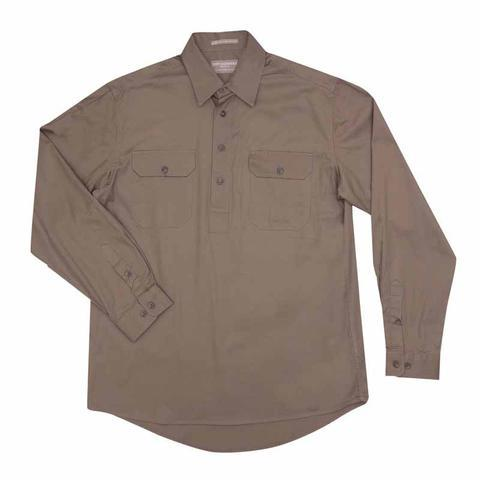 Cameron 1/2 Button Mens Work Shirts