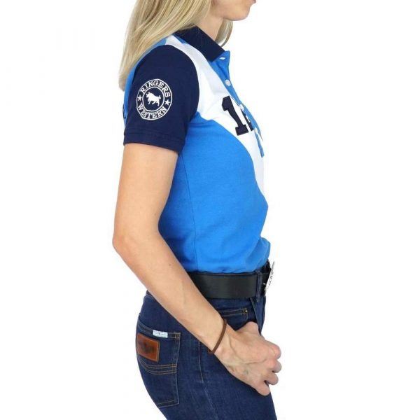 Ringers Western Stirling Womens Fashion Polo Blue