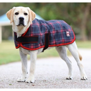 Happy Hound 1200D Parka - Red/Black Check  Size 26-30 (Large)