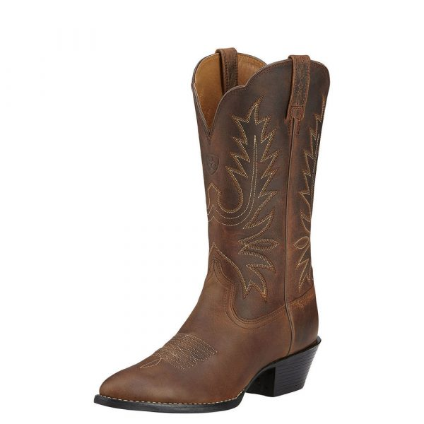 Ariat Womens Heritage Western R Toe distressed brown