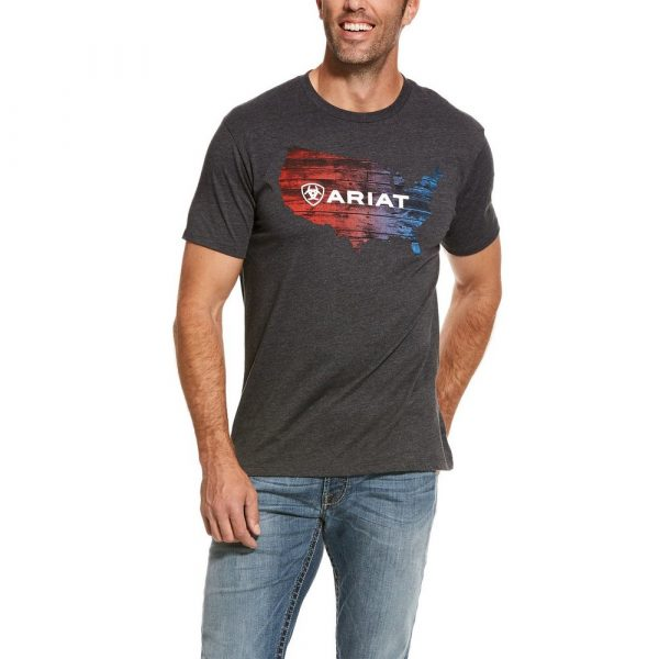Ariat Mens US Plank Tee Charcoal