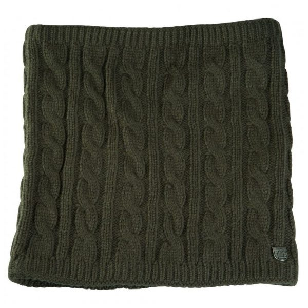 Horze Renate Cable Knit Scarf-Hunter Green