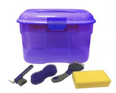 SHOWCRAFT GROOMING BOX - 5 PIECES - PURPLE