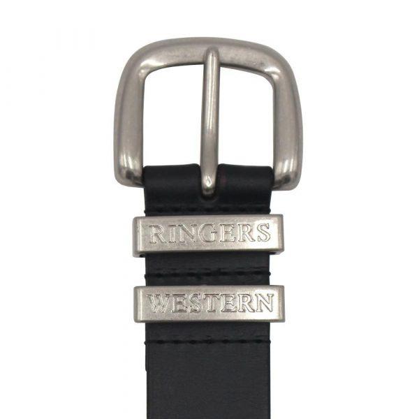 The James Belt Black/Silver