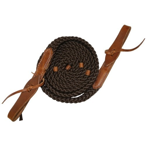 Fort Worth Flat Poly Roper Rein 8' w/Water Ties