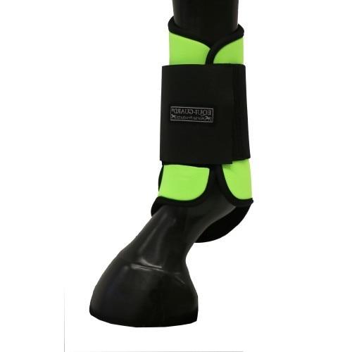 Equi-Guard Tendon Boots - Black/Lime