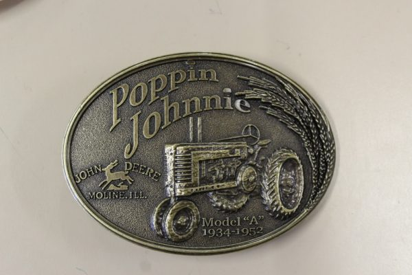 John Deere Poppin Johnnie Belt Buckle
