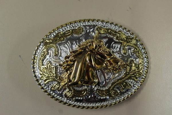 Gold Horse head belt buckle