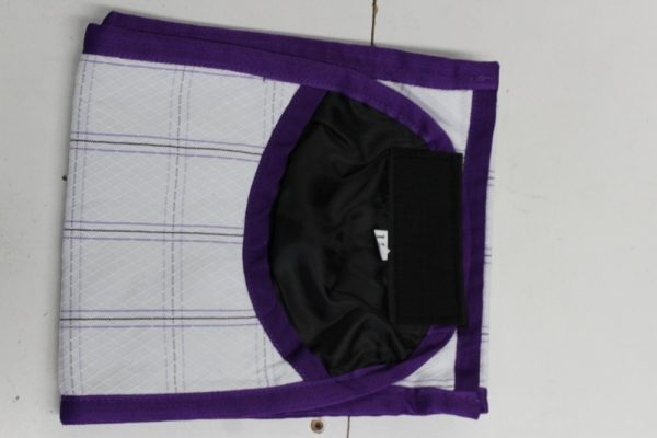 Heads To Tails Tail Bag~ Purple Diamond Check- Satin Lined