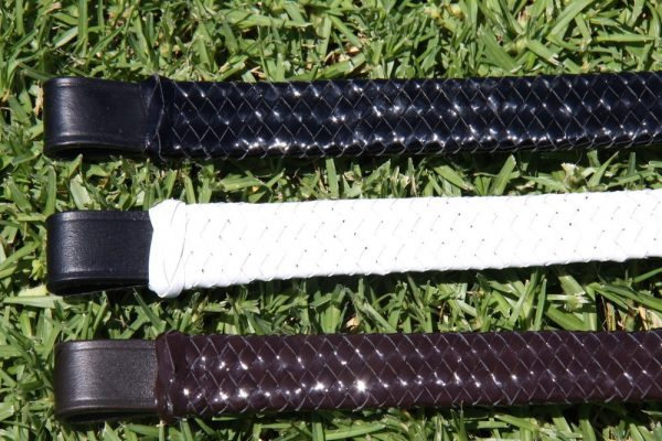 White Horse Patent Leather Hunter Plaited Browband