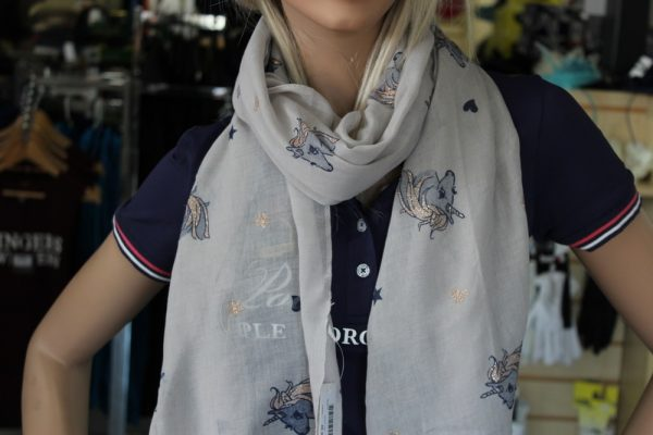 White  Sparkle unicorn Scarf