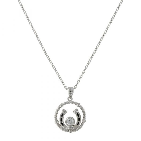 Montana Silver- necklace-wreathed horseshoe