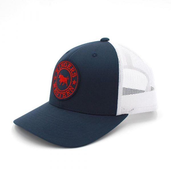 Ringers Western Navy, Red & White Signature Bull Trucker