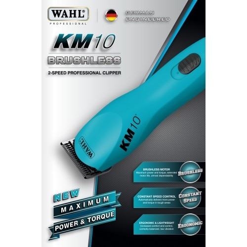 Wahl KM-10 Brushless Clipper w/ #10 Extra Wide Blade Set