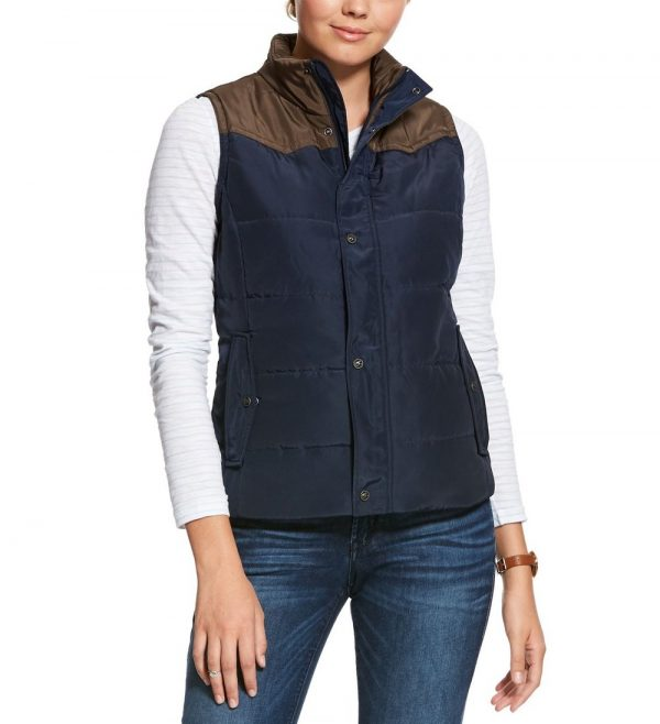 F20 Ariat Womens Country Vest Navy