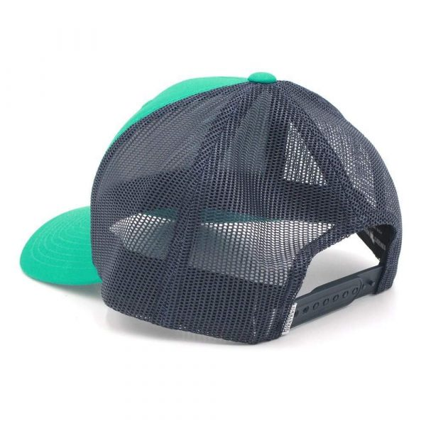 Ringers Western~Signature Bull Trucker Green & Navy with Green & White Patch