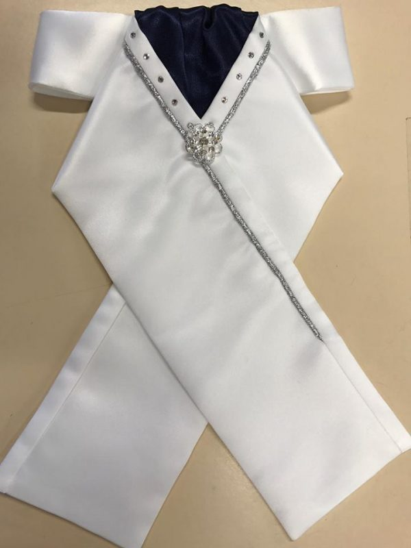 bling white stock with Navy centre